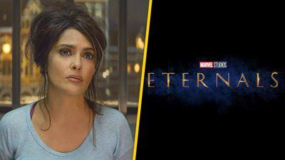 'Eternals': Filtran primer vistazo a Salma Hayek como Ajak con todo y su traje