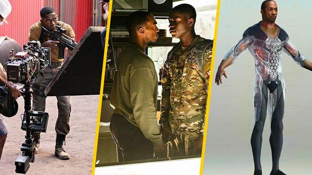 'Zona de riesgo': 10 fotos detrás de cámara de la película de Netflix con Anthony Mackie