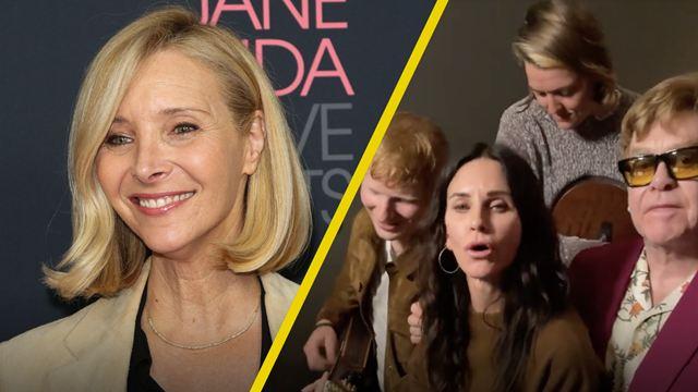 'Friends': Courteney Cox revela cómo reunió a Elton John, Ed Sheeran y Brandi Carlile para su video viral