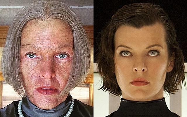 Milla Jovovich como Alice envejecida