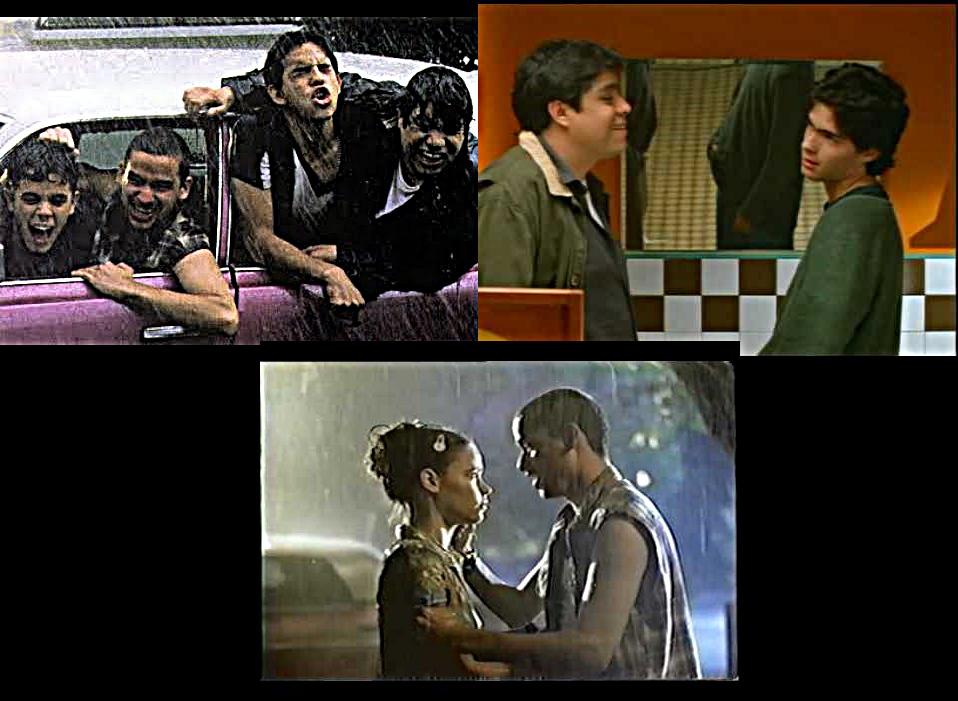 Bruno, Cheriff, Juan y Sergio en 'La primera noche' (1998)