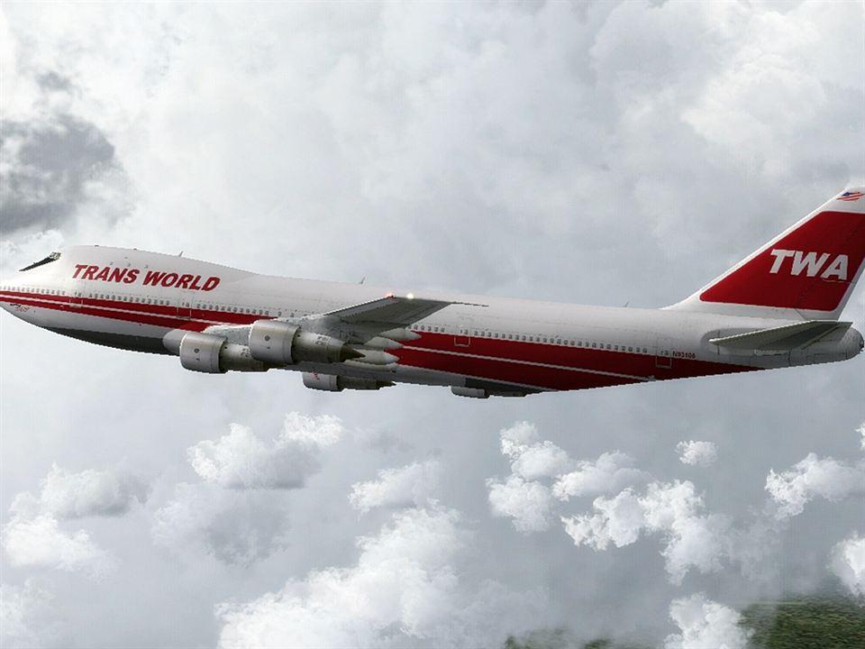 TWA en el avión